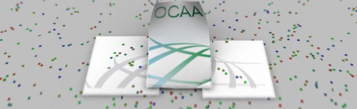 شعار جائزة عكاظ للإبداع الإعلاني